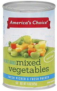 Americas Choice Mixed Vegetables No Salt Added