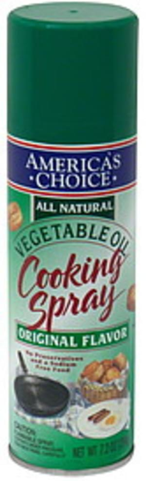 Americas Choice Vegetable Oil, Original Flavor Cooking Spray - 7.2 oz