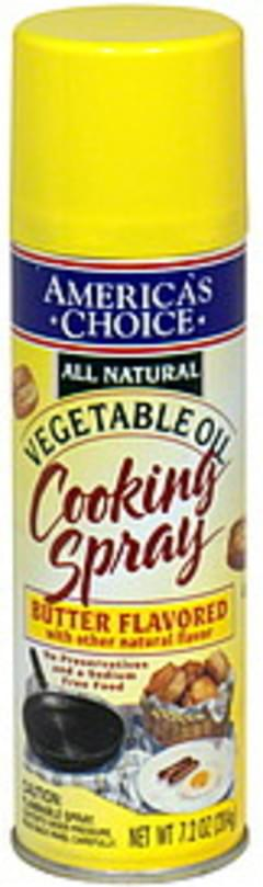 Americas Choice Cooking Spray Vegetable Oil, Butter Flavored