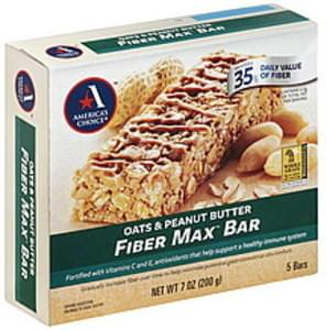 Americas Choice Fiber Max Bar Oats & Peanut Butter