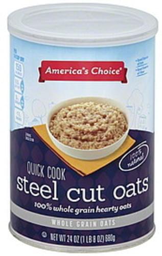 Americas Choice Steel Cut, Quick Cook Oats - 24 oz