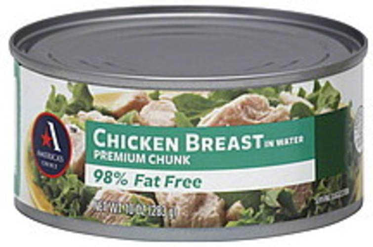 Americas Choice Premium Chunk, in Water Chicken Breast - 10 oz