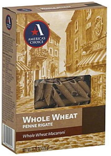 Americas Choice Whole Wheat Penne Rigate - 13.25 oz