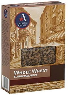 Americas Choice Elbow Macaroni Whole Wheat