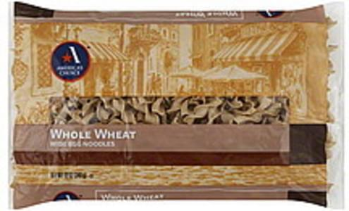 Americas Choice Egg Noodles Wide, Whole Wheat