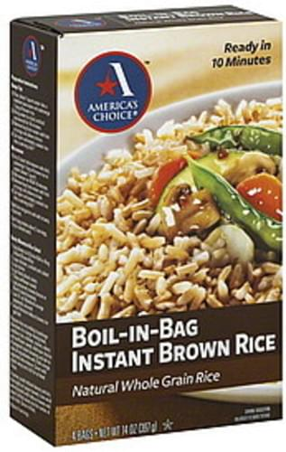 Americas Choice Boil-In-Bag Instant Brown Rice - 4 ea