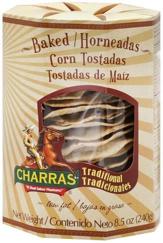 Charras Corn, Baked Tostadas - 8.5 oz