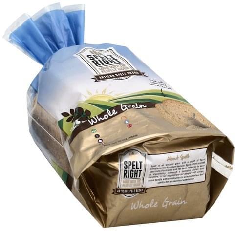 Spelt Right Artisan Spelt, Whole Grain Bread - 16 oz
