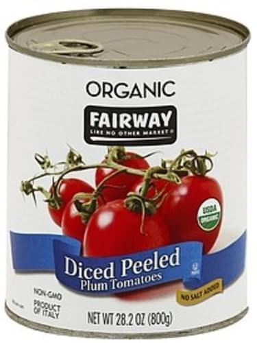 Fairway Peeled Plum, Diced Tomatoes - 28.2 oz