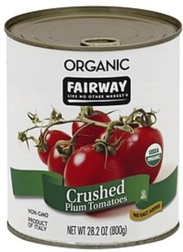 Fairway Plum, No Salt Added, Crushed Tomatoes - 28.2 oz