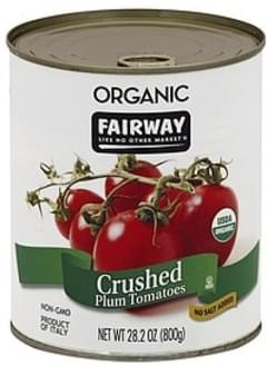 Fairway Tomatoes Plum, No Salt Added, Crushed