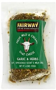 Montrachet Pure Chevre, Garlic & Herbs Cheese - 3 5 oz, Nutrition