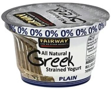 Fairway Yogurt Greek, Strained, Plain