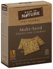 Back to Nature Crackers Gluten Free, Multi-Seed