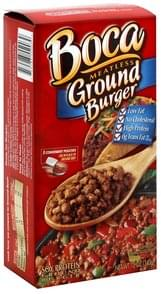 Boca Soy Protein Burgers Meatless Ground