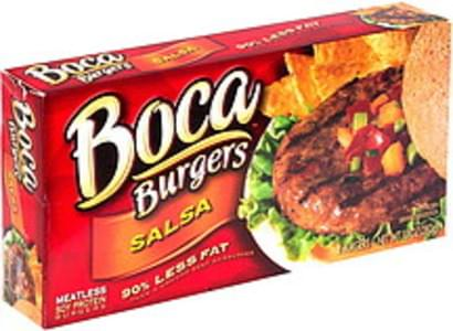 Boca Soy Protein Burgers Meatless, Salsa