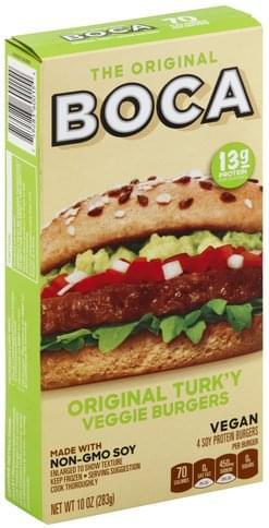 Boca Original Turk'y Veggie Burgers - 4 ea
