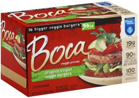 Boca Original Vegan Veggie Burgers - 16 ea