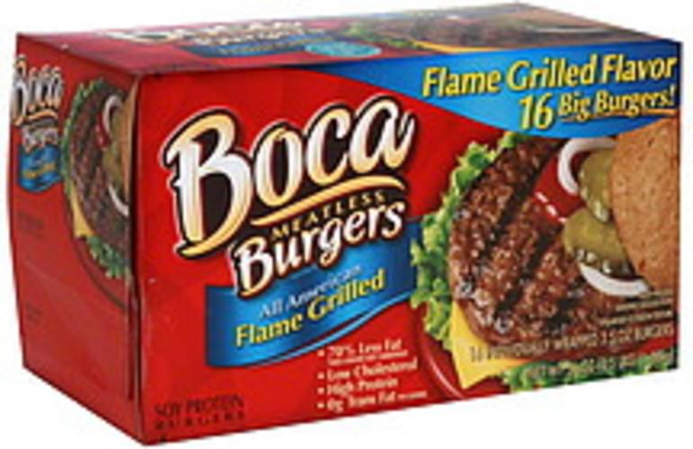 Boca All American Flame Grilled Meatless Burgers - 16 ea