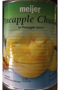 Meijer Pineapple Chunks