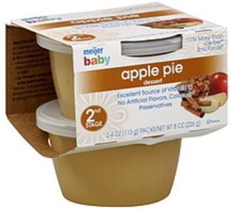 Meijer Baby Dessert Apple Pie, 2nd Stage
