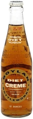 Boylan Diet Creme Soda - 12 oz