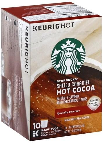 Starbucks Salted Caramel K Cup Pods Hot Cocoa 10 Ea