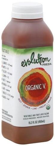 Evolution Fresh Vegetable and Fruit, Organic V Juice Blend - 15.2 oz
