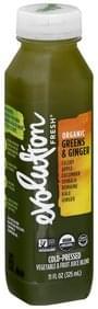 Evolution Fresh Vegetable & Fruit Juice Blend Organic, Greens & Ginger