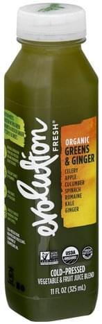 Evolution Fresh Organic, Greens & Ginger Vegetable & Fruit Juice Blend - 11 oz