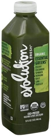 Evolution Fresh Cold-Pressed, Organic, Essential Greens Vegetable & Fruit Juice Blend - 32 oz