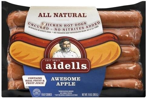 Aidells Chicken, Awesome Apple Hot Dogs