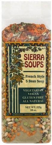 Sierra Soups French Style, 5 Bean Soup - 18 oz