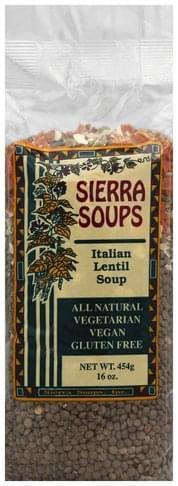 Sierra Soups Italian Lentil Soup - 16 oz