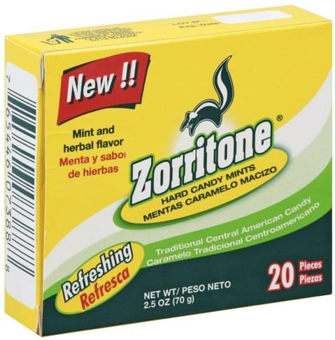 Zorritone Mint and Herbal Flavor Hard Candy Mints - 20 ea