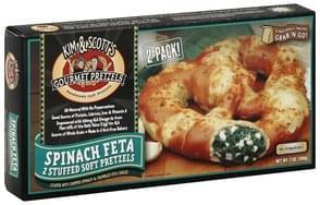 Kim & Scotts Stuffed Soft Pretzels Spinach Feta