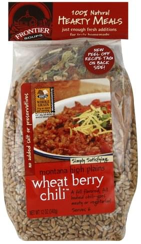 Frontier Soups Montana High Plains Wheat Berry Chili 12 Oz Nutrition Information Innit