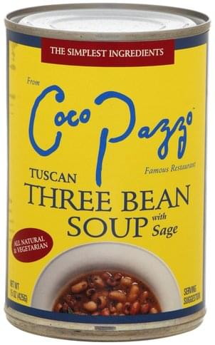 Coco Pazzo with Sage Tuscan Three Bean Soup - 15 oz