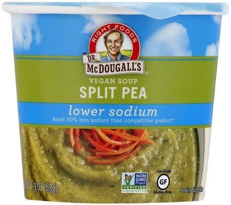 Dr Mcdougalls Vegan, Split Pea Soup - 1.9 oz