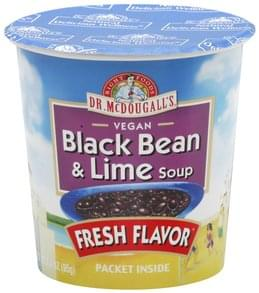 Dr McDougalls Soup Vegan, Black Bean & Lime