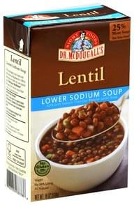 Dr McDougalls Soup Lower Sodium, Lentil