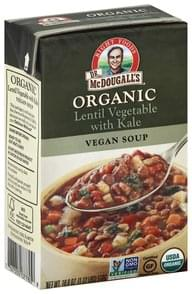 Dr McDougalls Soup Organic, Vegan, Lentil Vegetable with Kale