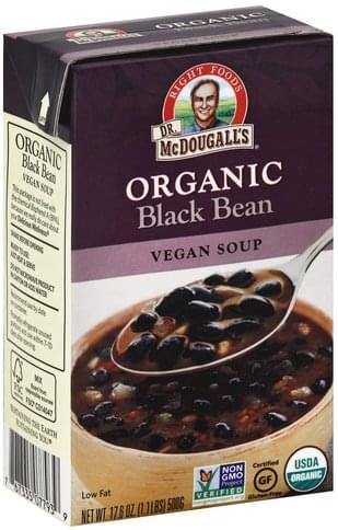 Dr McDougalls Organic, Vegan, Black Bean Soup - 17.6 oz