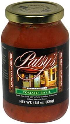 Patsys Sauce Tomato Basil
