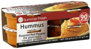 Summer Fresh Hummus Roasted Red Pepper, 4 Pack