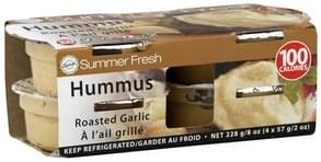 Summer Fresh Hummus Roasted Garlic, 4 Pack