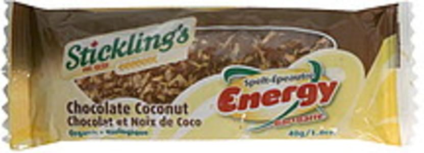 Sticklings Energy Bar Organic, Chocolate Coconut