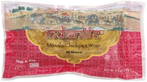 Indian Life Masala Chickpea Wrap - 9.7 oz