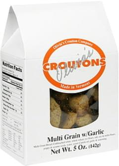 Olivias Croutons Multi Grain w/Garlic
