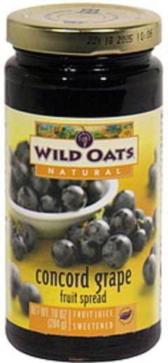 Wild Oats Fruit Spread Concord Grape